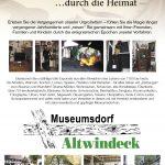 Zeitreise Flyer/ Förderverein Museumsdorf Altwindeck