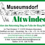 Plakat Museumsdorf/ Förderevrein Museumsdorf Altwindeck